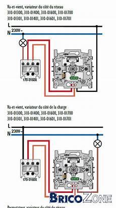 interrupteur va et vient avec variateur comment placer un variateur si deux interrupteurs pour une