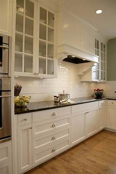 White Tile Backsplash Kitchen The Classic Of Subway Tile Backsplash In The Kitchen