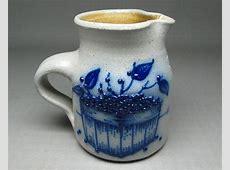 SALMON FALLS pottery salt glaze stoneware pitcher  berries