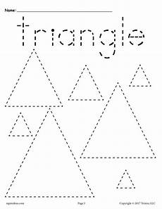 triangle tracing worksheet 12 shapes tracing worksheets circles squares triangles