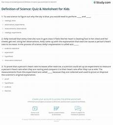 science definition worksheets 12171 definition of science quiz worksheet for study