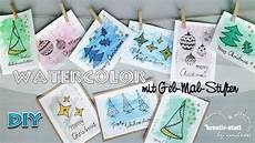 Kreativ Ideen Zum Selbermachen - diy weihnachtskarten selber malen anf 228 nger innen