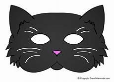 make your own black cat mask