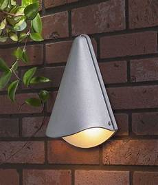 conical exterior wall light silver