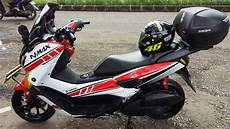 Modifikasi Motor Yamaha Nmax by Kumpulan Modifikasi Grafik Yamaha Nmax Simple Tapi