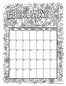 calendar coloring pages 17570 february 2018 coloring calendar page calendar calendar pages printable calendar pages