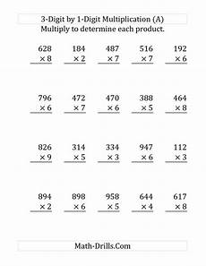 worksheets in multiplication for grade 3 4441 the multiplying a 3 digit number by a 1 digit number large print a 4th grade