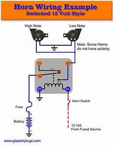 horn wiring diagram automotive horns gtsparkplugs