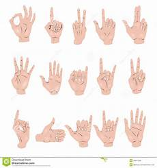 Set Of Gestures Royalty Free Stock Images Image
