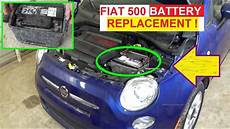 Fiat 500 Twinair Probleme - battery replacement on fiat 500 2008 2009 2010 2011 2012