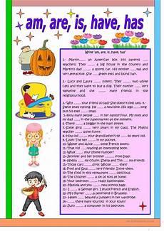 grammar worksheets has 24807 am are is has worksheet free esl printable worksheets made by teachers