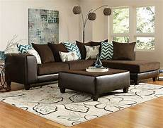 wohnzimmer braunes sofa brown wrap around reggae vibes two sectional