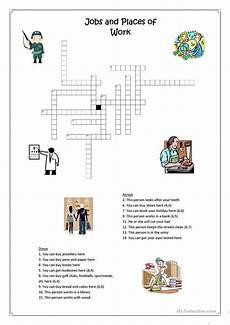 places of work crossword worksheet free esl printable worksheets made by teachers