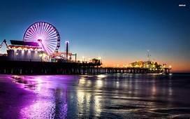 Santa Monica Pier Sunset Picture Wallpapers  Boardwalk