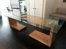 crafted glass top dining and side table by ajc