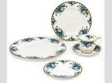 Unique Dinnerware Set Moonlight Rose New Blue China Dishes