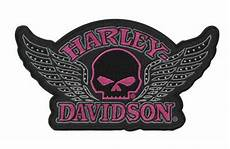 harley davidson patches harley davidson studded willie g skull wing patch nip