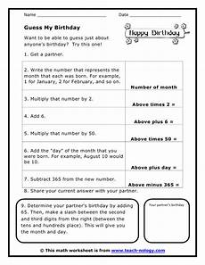 free birthday math worksheets 20247 guess my birthday