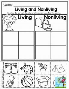 living and nonliving worksheets kindergarten living and nonliving a great preschool activity to help students categorize living and