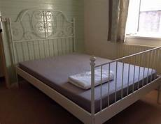 White Metal Ikea Bed Frame Mattress In