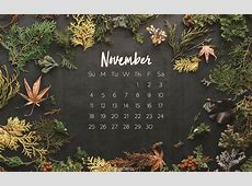 November 2018   Autumn Desktop Calendar  Free November