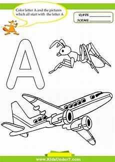 the letter a worksheets for kindergarten 24661 17 best images about letter a worksheets on the alphabet and coloring pages