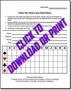 how to have a poker run poker run sheets cyclefish com