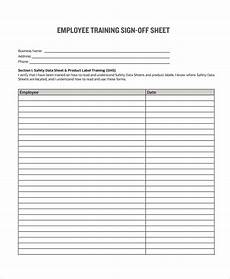 sign off form template free 8 sle sign off form templates in pdf