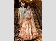 Photo of Floral print ivory sabyasachi bridal lehenga