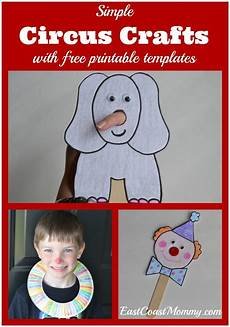 circus crafts with free printable templates kid