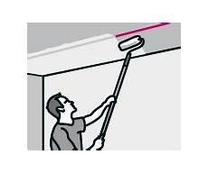 decke streichen lichteinfall vliestapete tapezieren anleitung der hornbach