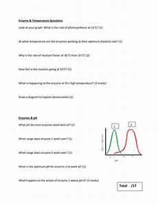 the effect of temperature ph enzyme activity by jm2450 teaching resources
