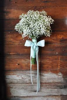 baby s breath bouquet with lace over burlap ribbon my