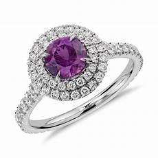 blue nile diamond wedding sets purple sapphire