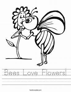 bees love flowers worksheet twisty noodle