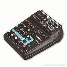 Teyun Channel Audio Mixer Mixing Console by Teyun A4 4 Channel Bluetooth 4 0 Audio Mixer Mixing