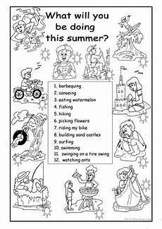 free activity worksheets 20305 what will you be doing this summer worksheet free esl printable worksheets made by teachers