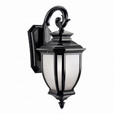 kichler 9040bk salisbury outdoor wall 1 light black