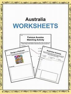 australia facts worksheets information for kids