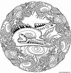 mandala coloring pages lizard 17931 lizard mandala animal coloring pages printable