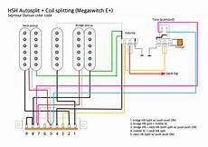 guitar wiring diagram hsh wiring hsh autosplit and push pull coil split megaswitch e daniele turani