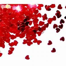 coeur de confettis de coeurs rouges