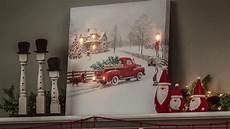 vintage truck led light up canvas wall art 6ltc6190 youtube