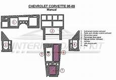 hayes car manuals 1989 chevrolet corvette interior lighting chevrolet corvette 1986 1989 dash trim kit manual 8 pcs interior dash kit