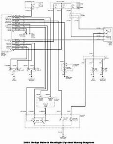 2001 Dodge Dakota Headlight System Wiring Diagram