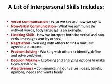 skills in interpersonal relationships interpersonal