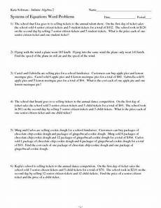 word problems linear systems worksheet linear equation word problems worksheet