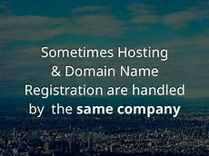 what is the difference between a domain name and hosting