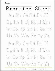 abcs dashed letters alphabet writing practice worksheet student handouts