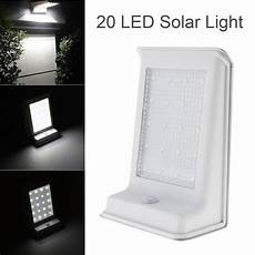 high quality waterproof 20 led solar power outdoor